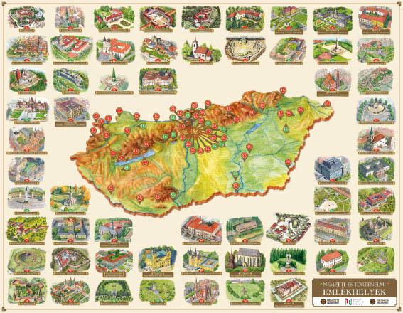 magyarország várai térkép Magyarország értékei, legszebb épített műemlékei látványtérképen magyarország várai térkép