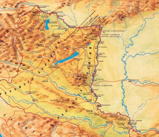 Pannónia térképe