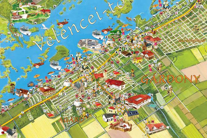 magyarország velence térkép Információs, útbaigazító és tájékoztató látványtérkép táblák magyarország velence térkép